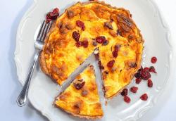Tartă cu brânză dulce și merișoare